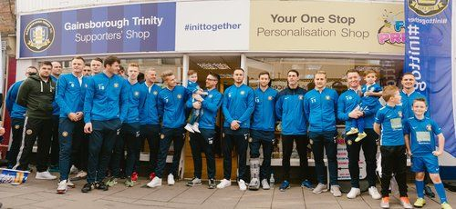 The grand opening of Fun Printz new store and Gainsborough Trinity Supporters Store