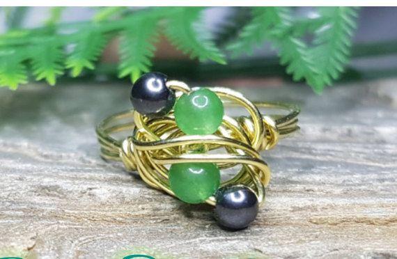 Hey, I found this really awesome Etsy listing at https://www.etsy.com/au/listing/473803860/gemstone-brass-ring-adventurine-hematite