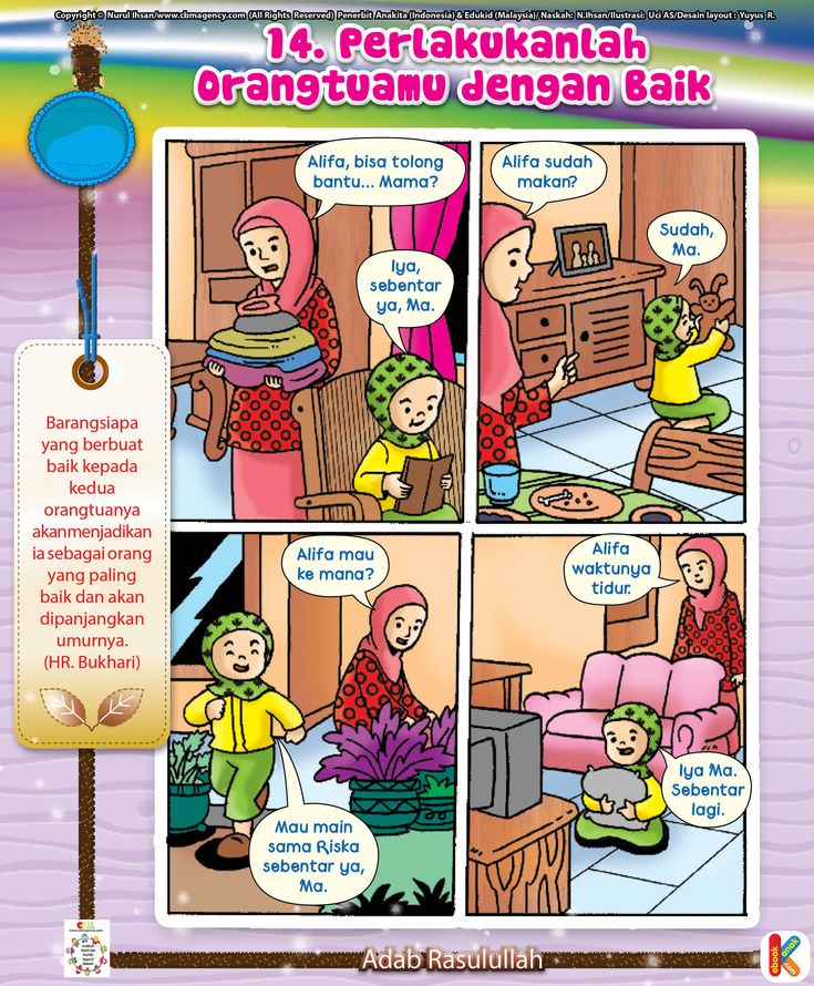 Komik Adab Memuliakan Orangtua