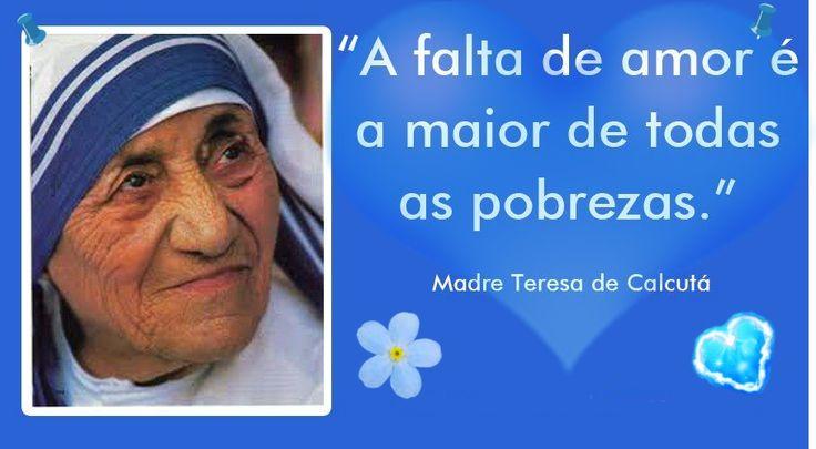 Foi mãe sem nunca ter tido um filho. Dedicou a sua vida pelo AMOR e a POBREZA Madre Teresa de Calcutá (1910-1997) foi uma missionária católica albanesa.Logo cedo descobriu sua vocação religiosa. Com dezoito anos entrou para a Casa das Irmãs de Nossa Senhora do Loreto. Criou a Congregação Missionárias da Caridade. Dedicou toda sua vida aos pobres. Em 1979 recebeu o Prêmio Nobel da Paz. Foi Beatificada pela igreja católica em 2003. Agnes Gonxha Bojaxhiu (1910-1997) nasceu no dia 26 de agosto…