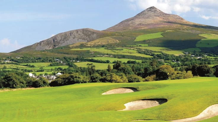 Powerscourt Golf Club, Wicklow, Ireland on a picture perfect Day! www.powerscourt.ie/golfclub