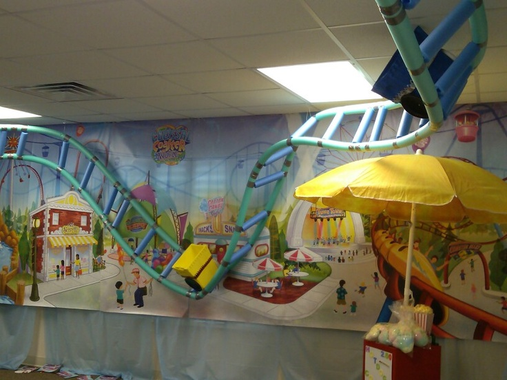 Mine and Heather's room for Bible School. The kids loved it. Pool noodle roller coaster.