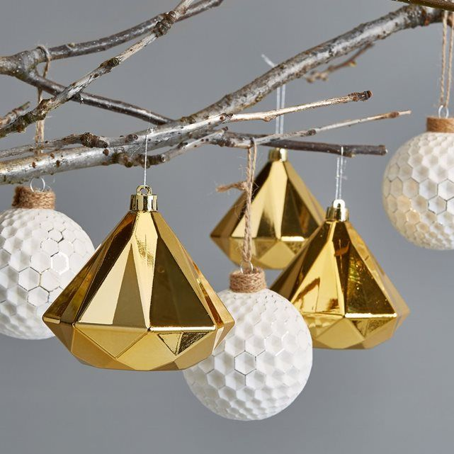 Boules de noël aux facettes prodigieuses pour mieux attirer la lumière !