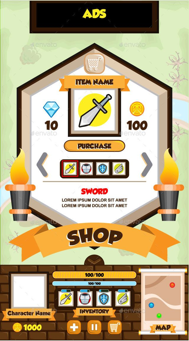 Mobile Game UI Collection 01 #Ad #Game, #AD, #Mobile, #UI