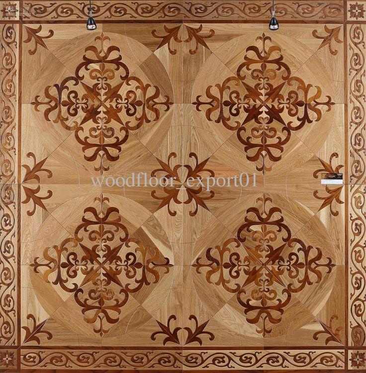 Flower Pattern Art Parquet Wood Flooring Tiles Asian Pear Sapele Wood Floor  Wood Wax Wood Floor Russia Oak Wood Floor Wings Wood Flooring