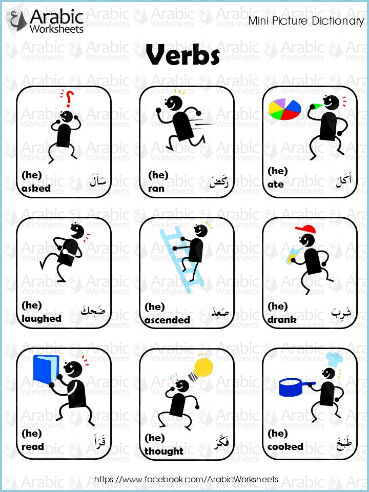 Arabic/English Picture Dictionary- Verbs
