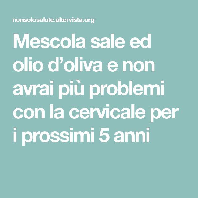Mescola sale ed olio d'oliva
