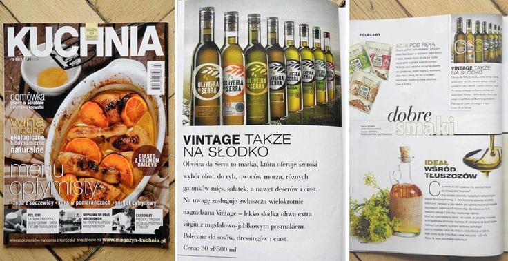 Kuchnia. Magazyn dla smakoszy - 03.2012  Portugalska oliwa z oliwek Oliveira da Serra  Portuguese olive oil Oliveira da Serra