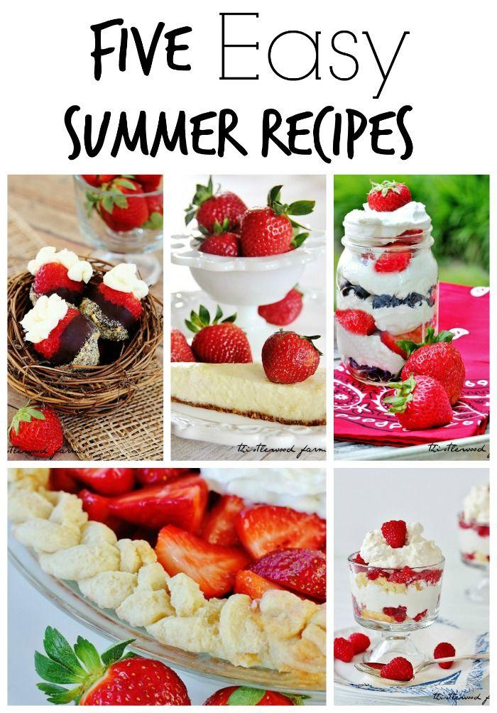 Five Easy Summer Recipes, strawberry heaven