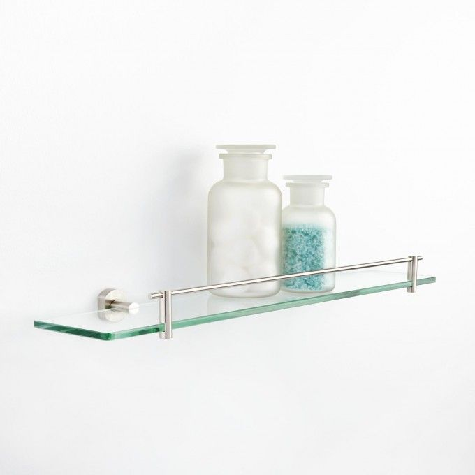 marlton tempered glass shelf - Bathroom Accessories Glass Shelf