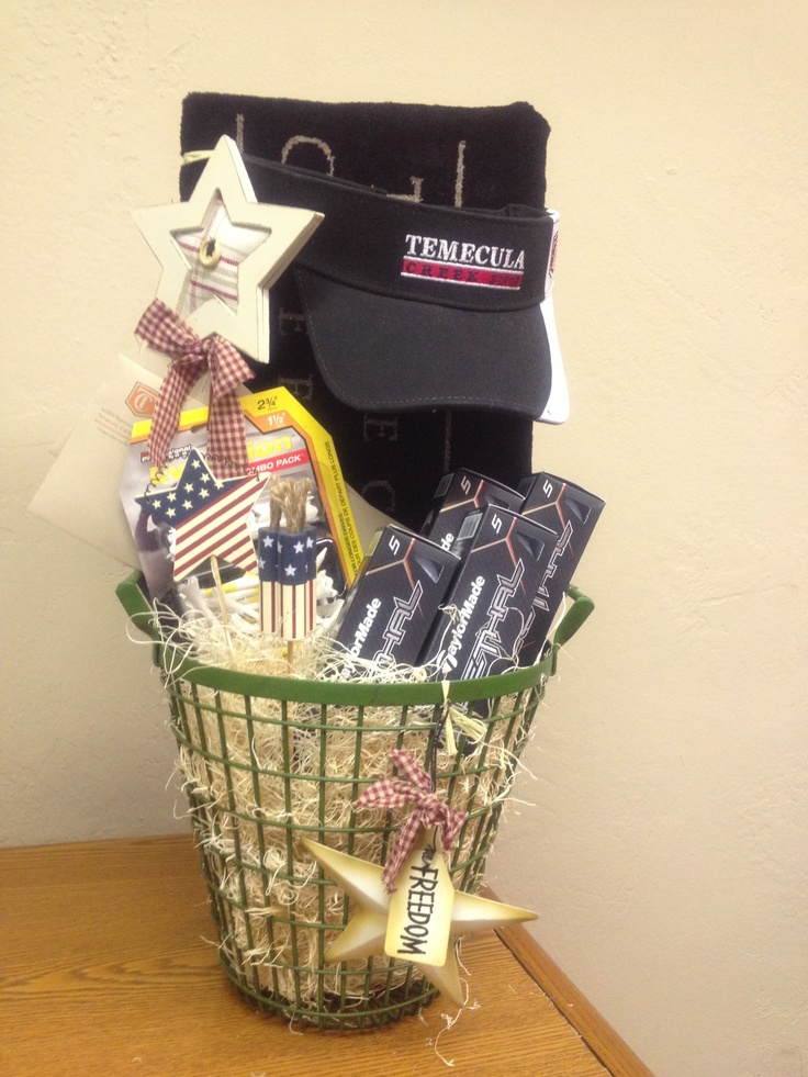 Golf gift basket donation for golf tournament includes: (2 ...