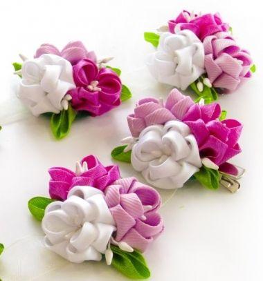 Gorgeous DIY spring ribbon flower headband - kanzashi  // Gyönyörű tavaszi szalag virágos fejpánt - kanzashi technika // Mindy - craft tutorial collection