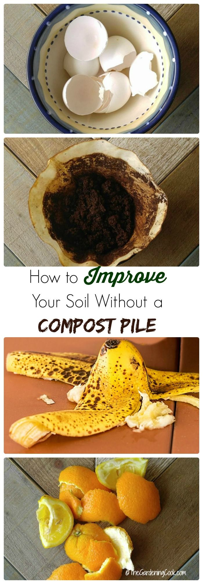 You do not need a compost pile to get great garden soil. Trench composting with kitchen scraps is an easy to use technique that all small gardeners can use. thegardeningcook.com