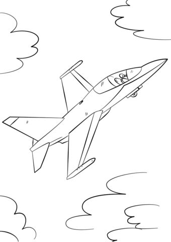 fighter jet coloring page airplane coloring