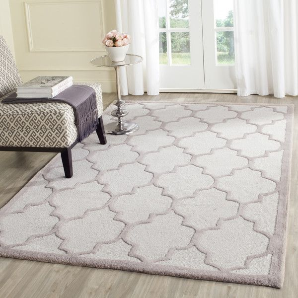 Safavieh Handmade Moroccan Cambridge Ivory/ Beige Wool Rug X Brown, Size X  (Cotton, Trellis)