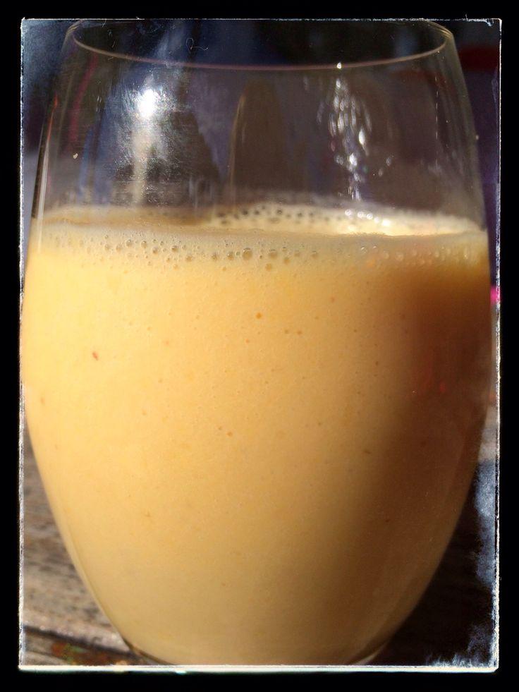 thermomix orange and banana smoothie
