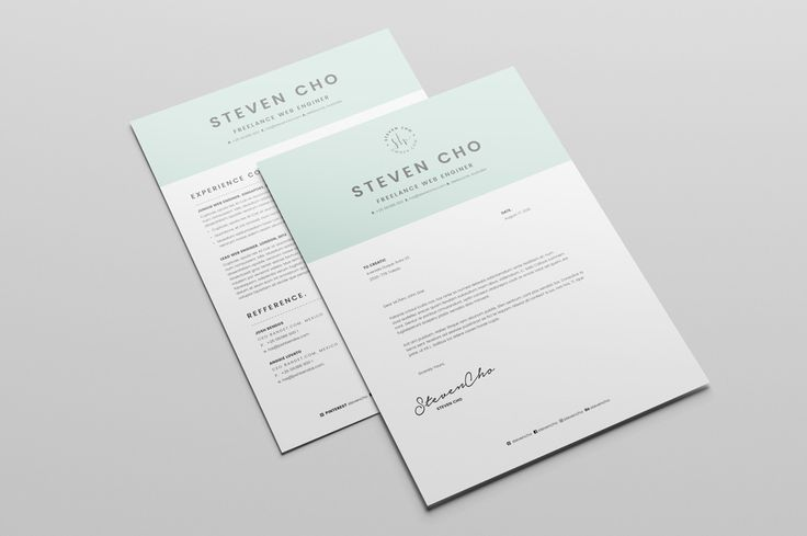 Free-Minimalist-Resume-CV-Design-Template-With-Cover-Letter-In-DOC-Indesign-1.jpg (1160×772)