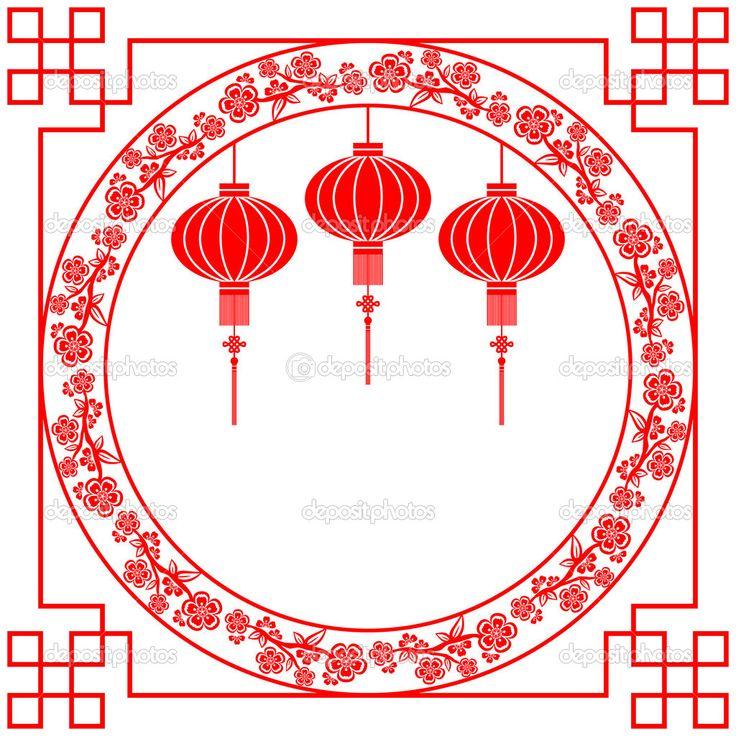 Китайский Новый год фон красный фонарь — стоковая иллюстрация #18068521