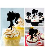 Cp162 cupcake toppers Barbie Princess Silhouette Package : 10 pcs - $10.00