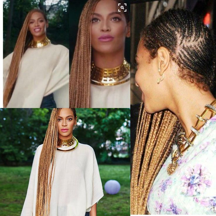 Beyonce long cornrows
