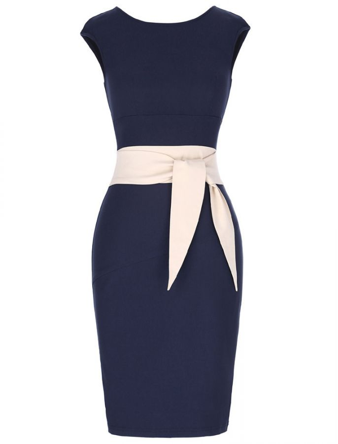Oh So Bow-tiful 50s Retro Vintage Style Pencil Wiggle Dress Women's Jewelry - http://amzn.to/2j8unq8