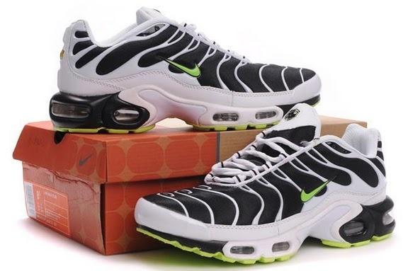 Air Max TN Mens White Black Green: Nike Air Max