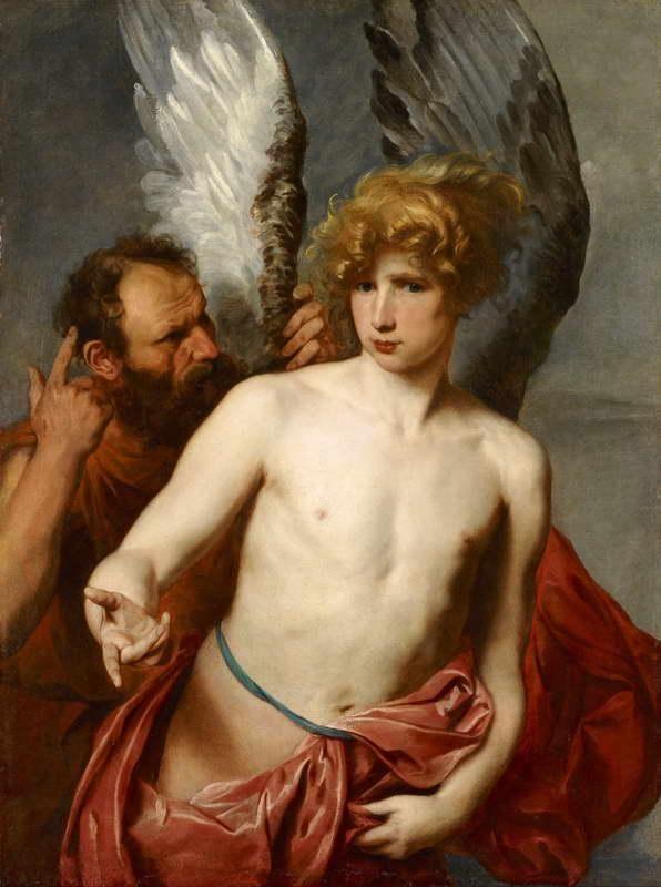 Dédalo e Ícaro, Anton Van Dyck, 1630, Galería de Arte de Ontario