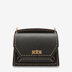 d4d395ca75164 SUZY MEDIUM - BLACK BOVINE SPLIT Shoulder Bags