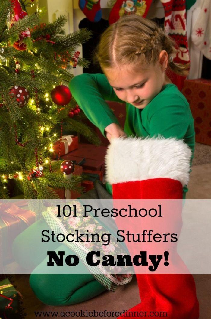 101 Preschool Stocking Stuffer Ideas. No Candy? Awesome!