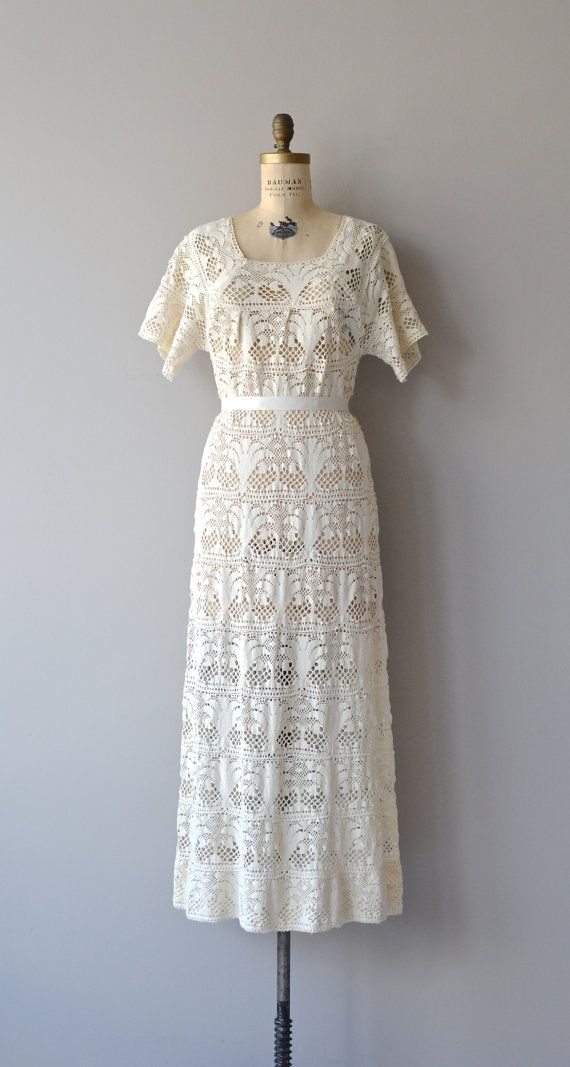 Brosella crochet dress vintage 1960 crochet dress by DearGolden