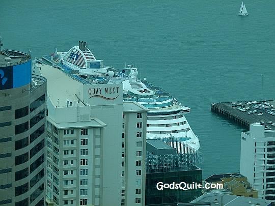 Docking in New Zealand.