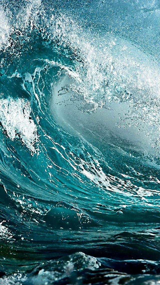 Wave Ocean Sea foam                                                       �