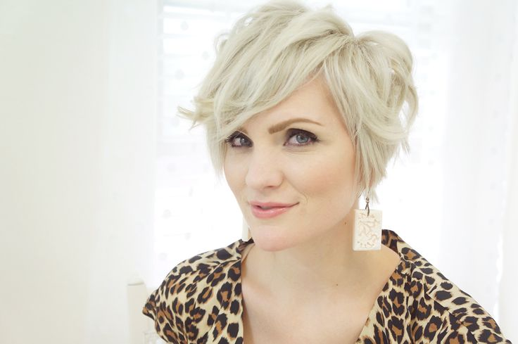 short, blonde cut