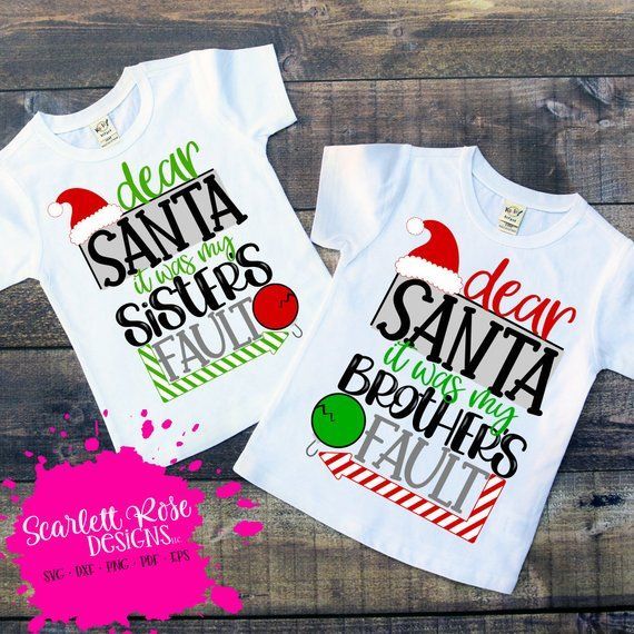 Santa It Was My Brother/'s Fault Baby Unisex Funny Baby Grow Bodysuit