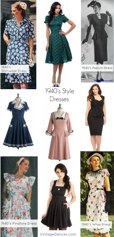 10 Styles of Vintage 1940s Dresses to Wear Again #1940s #vintage #retro