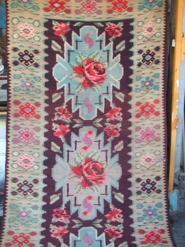 Special Original Romanian kilim antique hand woven 285x125-cm /112.2x49.2-inches