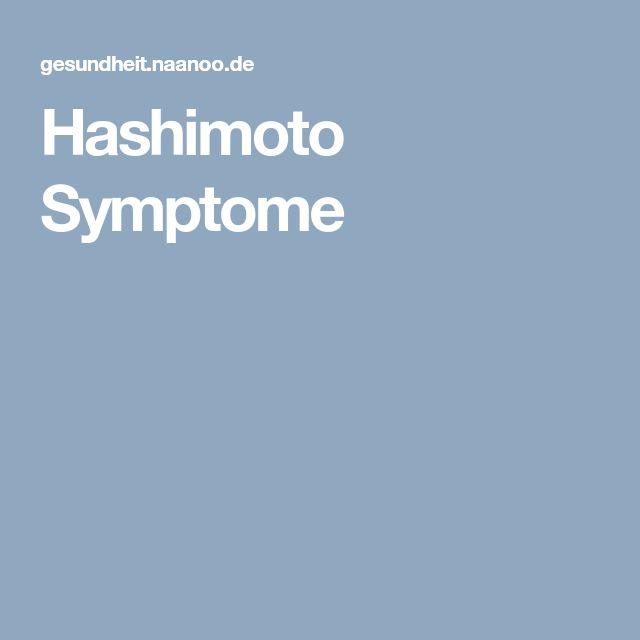Hashimoto Symptome