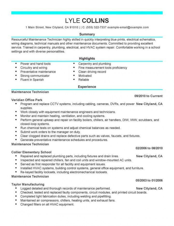 Explore Our Sample Of Maintenance Technician Job Description Template For Free Job Description Template Resume Skills Job Description