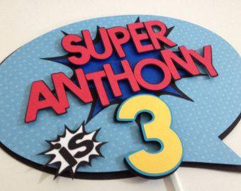 Superhero Cake Third Birthday Cake Sixth Birthday Cake