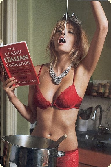 Cook/Clean n lingerie....help encourage your loved one to help you clean so he can touch you :) <3 and plus its fun!!!
