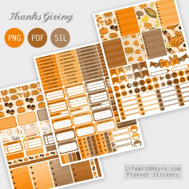 lifewithmayra | Free Thanksgiving Planner Stickers                                                                                                                                                                                 More