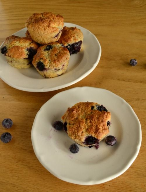 Blueberry Muffins with a touch of lemon for The Cake Slice Bakers