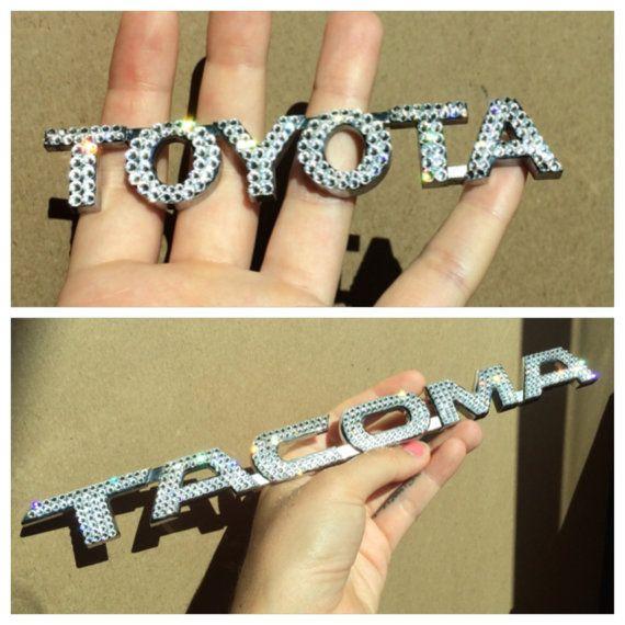 SWAROVSKI Crystal Toyota Tacoma Truck Emblem Set