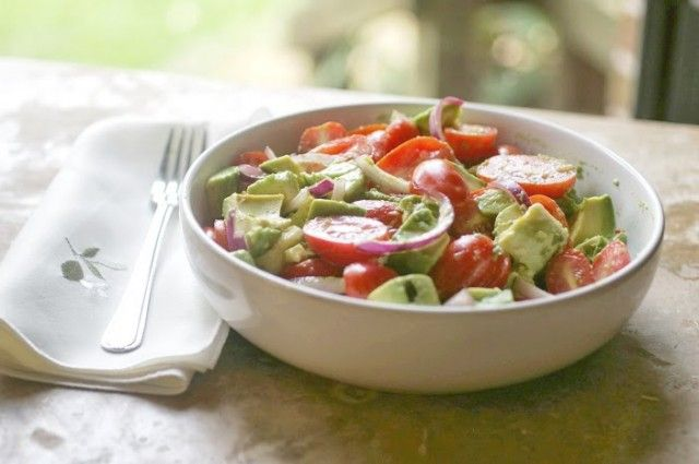 Avocado Salad - the dressing in this salad is fabulous! Not just good ...