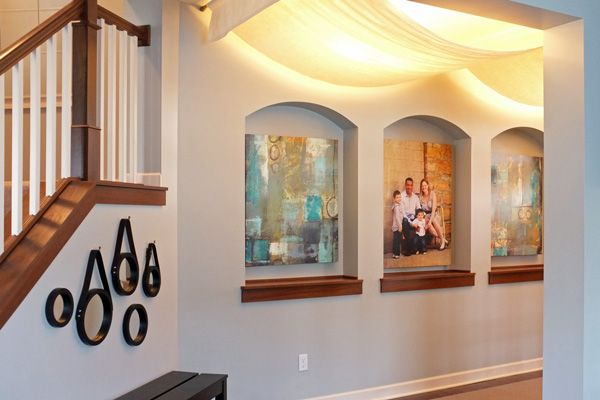 ceiling drapes aglow   -- interesting solution for hiding something unattractive on the ceiling.
