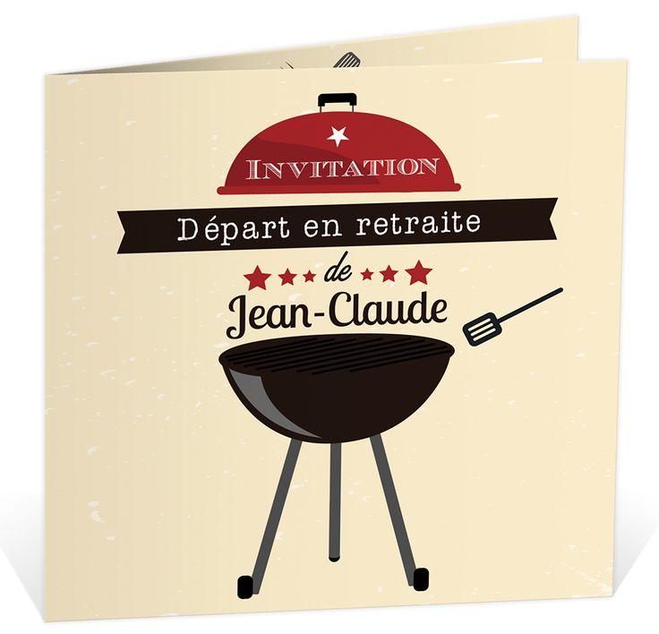 carte invitation d part la retraite pour convier vos proches un bon petit barbecue ref. Black Bedroom Furniture Sets. Home Design Ideas