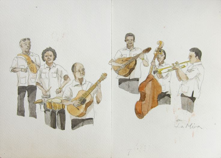 "En La Mina.  ""We performance to earn live, and play music for no die."" said Marlon.  Havana, Cuba."