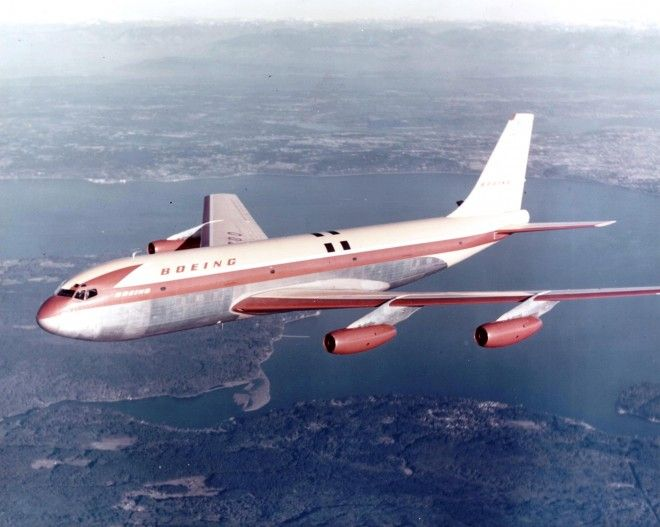 Boeing 707 flies for the first time on July 15, 1954.