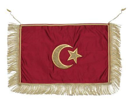 [Ottoman Empire] Silk Ottoman Flag, 19th Century (İpek Kumaş Osmanlı Bayrağı, 19.YY)