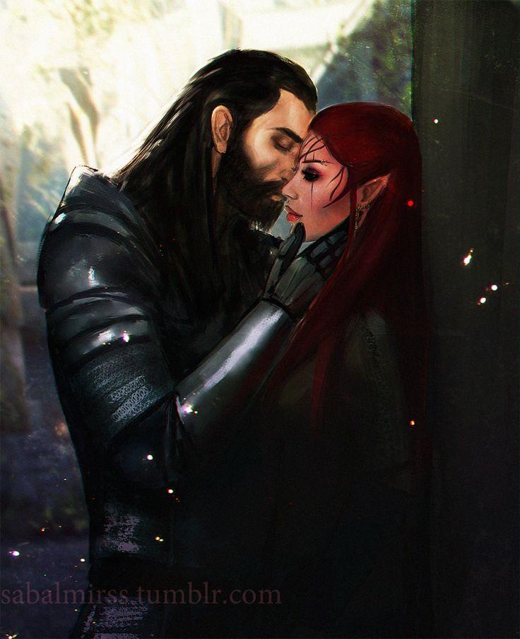 DAI: Lavellan and Blackwall by Sabalmirss | Dragon Age | Pinterest